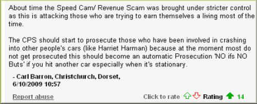 Speed cam revenue scam