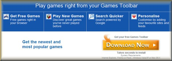 Download Free Games Tool Bar